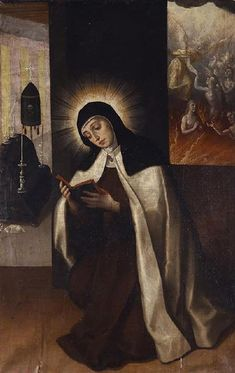 Sta. Teresa de Jesús orando por la almas del Purgatorio, Luis Juárez, Museo Nacional del Virreinato, Tepzotlán, Edo. de México. | Flickr - Photo Sharing!