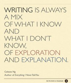 Celeste Ng, author of Everything I Never Told You - #writing wisdom through #AsktheAuthor.