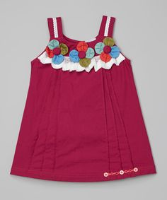 Berry Flower Tank Dress - Toddler by the Silly Sissy #zulily #zulilyfinds