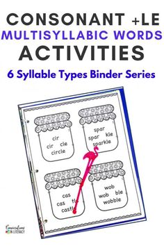 Teaching the 6 Syllable Types can improve reading fluency and help make mutlisyllabic word decoding much more manageable for your elementary students! This vowel teams \ vowel combos binder has 10 learning sections that will build and improve fluency, phonics, vocabulary and comprehension! The comprehension stories can be used as assessments!