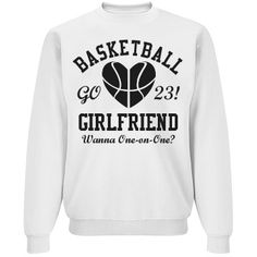 Cute Trendy Basketball Girlfriend Unisex Crewneck Sweatshirt you can personalize. Great to show your march madness in!