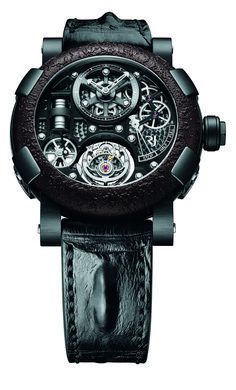 Romain Jerome the Steampunk Tourbillon Gunmetal - Luxois Romain Jerome, Fine Watches, Cool Watches, Watches For Men, Men's Watches, Black Watches, Pocket Watches, Bell Ross, Jaco