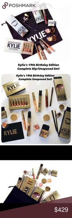 ⬇️SALE PRICE! Nip 19th Birthday Edition Complete! ⬇️SALE PRICED! COMPLETE NIP Kylie's B-Day Edition Set! Never open complete down to the draw-string pouch it can bundled in My Cost was $195+Shipping($8.95) yes she charged me shipping/figure in sites 20% ($41) Selling fee & hey! My efforts R worth something! This is my Job! I'm starting a bit higher! But HARD 2 find a NEW NEVER OPENED 19th Birthday Bundle! See prices listed separately/don't forget (their) shipping fee $8.95/unless over a…