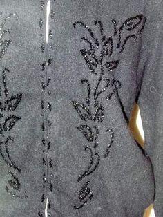 Gorgeous BEADED Vintage CARDIGAN Sweater by BeauMondeVintage, $36.00