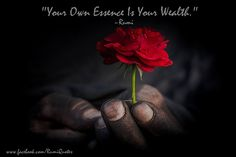"""""""Your Own Essence Is Your Wealth."""" ~Rumi"""