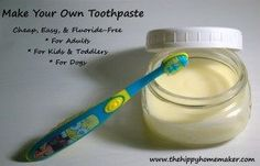 Cheap, easy, healthier toothpaste for adults, toddlers, dogs, and cats