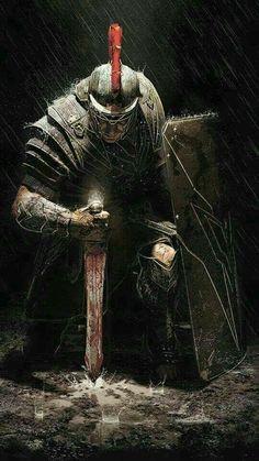 (Ryse Son of Rome) Cavaleiros e Templários Fantasy Warrior, Greek Warrior, Medieval Fantasy, Dark Fantasy, Fantasy Art, Knight Tattoo, Armor Tattoo, Norse Tattoo, Viking Tattoos
