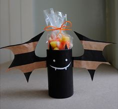 Fun, festive favor! It is a very earth-friendly project (love recycling crafts) and you would never even know it!  :)