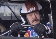 You've got to be shitting me. Nick Offerman's Gluten Comment In NASCAR Commercial Sparks Online Petition (Video) Nick Offerman, Ron Swanson, Parks And Recreation, Big Game, Nascar, Commercial, Gluten