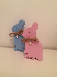 #easter#bunny#personalised#wooden#girl#boy £5
