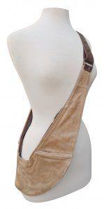 Brown and Tan Genuine Leather Sash Bag Sachet Bags 3907a65f2e89