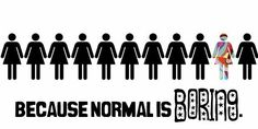 why be normal?  @Studio Calico via klrmullins  great stamp or paper!