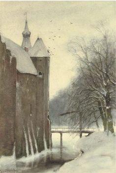 Louis Apol (1850-1936), The Castle Doorwerth in Winter, Doorwerth