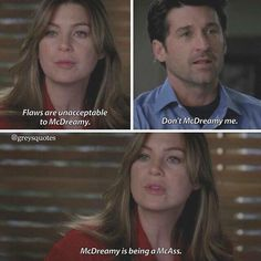 McDreamy is being a McAss Grey's Anatomy, Greys Anatomy Funny, Grey Anatomy Quotes, Meredith And Derek, Memory Words, Grey Quotes, Dark And Twisty, Youre My Person, Book Show