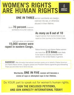 PSA: Women's Rights Are Human Rights
