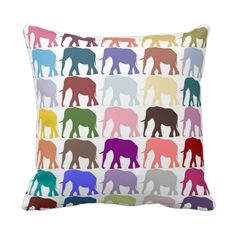 Colorful Herd Pillow