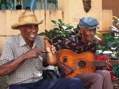 Street musicians in Cuba