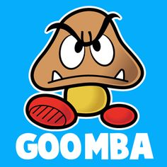 How to draw Goomba from Nintendos Super Mario Bros. with easy step by step drawing tutorial