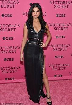 Selena Gomez in Louis Vuitton at the Victoria's Secret Fashion Showon red carpet on November 10, 2015
