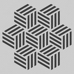Reusable Wall Stencil Modern Geometric Cube Allover par StencilMall