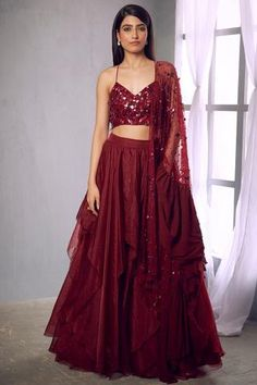 Women's wear is literally Bridal lehenga Store's strong Suit. The romantic dress the brand is known for. world wide shipping is also available. Designer Bridal Lehenga, Bridal Lehenga Choli, Saree, Lehenga Style, Red Lehenga, Anarkali, Ethnic Fashion, Indian Fashion, Designer Wear