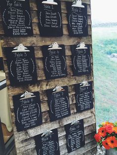 Wedding table plan - slate would look better.