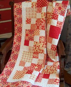 Scrappy Designer Fabrics Baby Girl, Toddler, Crib Quilt or Throw - Reversible. $125.00, via Etsy.