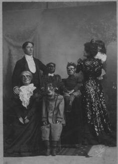 Family Portrait Most Frightening Ventriloquist Dummies