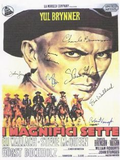 The Magnificent Seven Autographed Poster, check out WWW.ALLAUTOGRAPH.COM