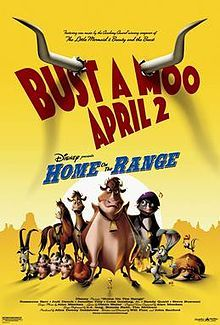 """Home on the Range is a 2004 American animated musical western comedy film produced by Walt Disney Feature Animation and released by Walt Disney Pictures on April and was named after the popular country song """"Home on the Range"""". The Aristocats, The Jungle Book, Brother Bear, Wreck It Ralph, Disney Films, Disney Characters, Tarzan, Meet The Robinsons, Winnie The Pooh"""