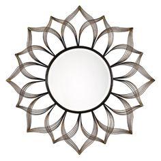 Uttermost Imani Sunflower Wall Mirror - 49.5 diam. in., Grey