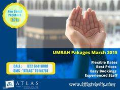 Book your #Umrah with Atlas Travel in Mumbai, Bangalore and Ahmedabad  #Umrah2015
