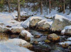 """Seneca Brook by Steven Hileman Oil ~ 12"""" x 16"""""""