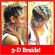 My daughter w/3-d Braids!