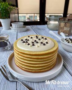 Przepisy - Trener personalny McFit | Warszawa | Łukasz Gąsiński Coco Cream, Healthy Recipes, Healthy Food, Pancakes, Breakfast, Fitness, Healthy Foods, Morning Coffee, Healthy Eating Recipes