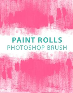 Large hi-res paint rolls free Photoshop brush set