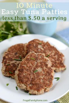 A simple and easy recipe for tuna patties. These tuna patties are simple and the best I've had. You can make the tuna patties with bread crumbs or crackers both ways turns out great. Even ideas no egg tuna patties too. Try them they are so good! #Cannedtuna #TunaRecipes #FrugalRecipe