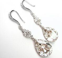 Bridal wedding Vintage style earings.