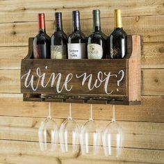 Gracie Oaks Mccandless Wine Not 5 Bottle Wall Mounted Wine Rack
