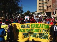 Working for quality and equality in South African education News Channels, Equality, March, African, Education, Social Equality, Onderwijs, Learning, Mac
