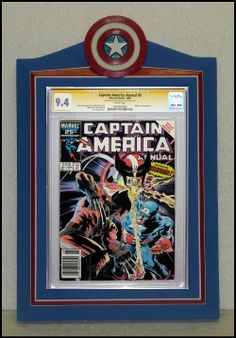 custom captain america cgc comic book frame