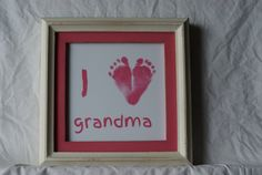 Newborn footprint art customized with your by TeenyTinyPrints
