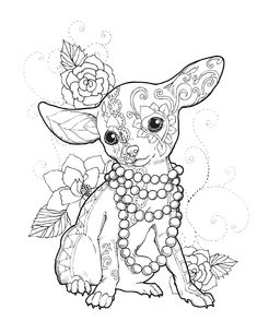 Chihuahua Chic Art Print by Cindy Elsharouni. All prints are professionally printed, packaged, and shipped within 3 - 4 business days. Choose from multiple sizes and hundreds of frame and mat options. Dog Coloring Page, Printable Adult Coloring Pages, Cute Coloring Pages, Animal Coloring Pages, Coloring Books, Coloring Pages For Adults, Mandala Coloring Pages, Coloring Pages To Print, Chihuahua Tattoo