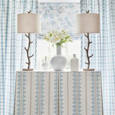 Anna French, Blue Tablecloth, Sunday Inspiration, French Pattern, Blue And White Fabric, French Collection, White Spray Paint, French Fabric, Striped Fabrics