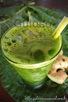 Suco de Couve, Maracujá e Gengibre » Bebidas, Liquidificador, Receitas Saudáveis » Guloso e Saudável