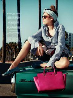 """Venus in Venice"" Staz Lindes by Jason Kim for Glamour France April 2014"