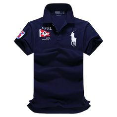 Ralph Lauren RL Polo Shirt Men Clothing Solid Mens Polo Shirts Business Casual Polo shirt Cotton Sportswear Breathable