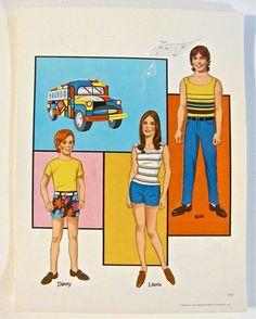 Partridge Family Paper Dolls Boxed UNCUT & Complete Vintage 1970