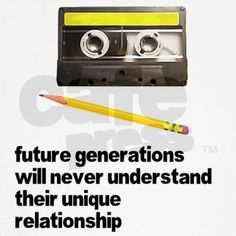 Future generations will never understand their unique relationship.. for those who can understand this at the first sight, just admit that you are getting old...