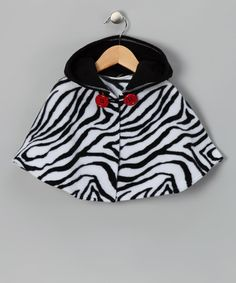 Take a look at this Black & White Zebra Poncho - Infant, Toddler & Girls by Safari Style: Kids' Apparel & Shoes on #zulily today!